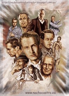 Paul Newman by NachoCastro on DeviantArt Cinema Movies, Cult Movies, Paul Newman, Denis Zilber, Cool Pencil Drawings, Celebrity Caricatures, Pop Culture Art, Humor Grafico, Classic Films