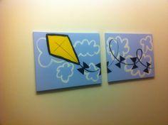 Kappa Alpha Theta yellow kite canvas