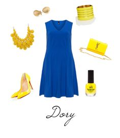 """Finding Dory"" by budgetsavydiva ❤ liked on Polyvore featuring Manon Baptiste, ASOS, Bling Jewelry, Christian Louboutin and Yves Saint Laurent"