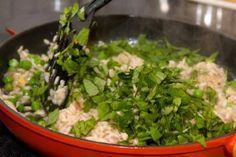 Wickwood Inn's Spring Green Risotto is made with all the freshest spring flavors! Silver Palate Cookbook, Risotto Recipes, Healthy Dishes, Small Plates, Spring Green, Main Courses, Dinner Recipes, Pasta, Fresh