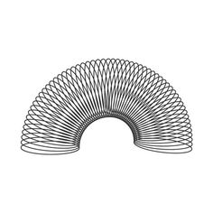 A slinky, a slinky, it's a fun, it's a wonderful toy, It's fun for a girl and a boy.