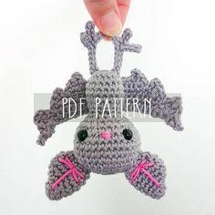 PDF PATTERN EN Crochet pattern for amigurumi Baby bat