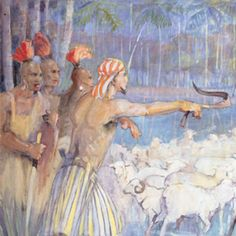 Ammon Saves the King's Flocks :: Museum of Art