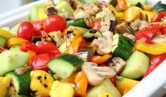 Grilled med Veg salad
