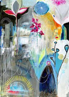 « La rêverie est le dimanche de la pensée.  » de Henri-Frédéric Amiel Bon dimanche mes amis. collabe painting- Anahata Katkin