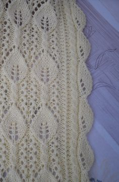 Knitted baby blanket cot blanket pram blanket by PrettyHandCraft