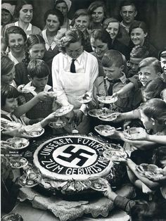 The poor children of Berlin share in Hitler's Birthday party, April 20, 1934.