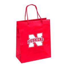 Nebraska Cornhuskers Gift Bag - Elegant Foil