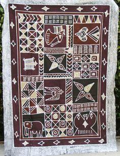 African Batik Zimbabwe 57 X 78  Handmade  by AfricanArtHomeDecor, $139.00