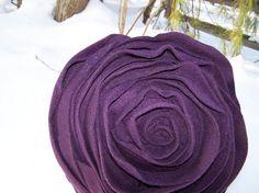 Purple Flower Pillow.(: