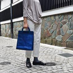 #vegetabletanned #calfskin #leather #shoppingbag #totebag by #stevemono
