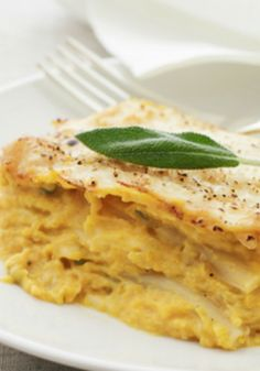 Butternut Squash and Sage Lasagna A delicious recipe for an evening dinner