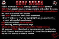 tattoo+shop+rules   SHOP RULES