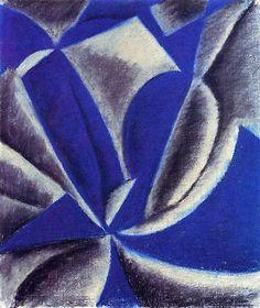 Arthur Dove Movement No 1 Drawing pastel 30x25 Wall Art Canvas Print Unframed