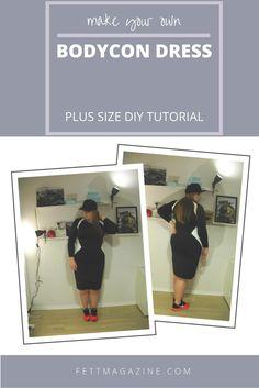 Plus size DIY bodycon dress.