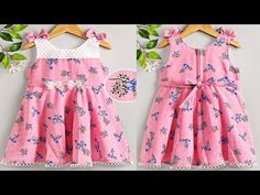 Baby Girl Dress Design, Stitching Patterns, Girls Dresses, Summer Dresses, Baby Month By Month, Baby Bibs, Baby Wearing, Frocks, Baby Dress