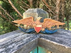 Vintage Midwest American Bald Eagle--Cast Metal--Flag Shield--Patriotic Americana--Brown Eagle by AlloftheAbove on Etsy