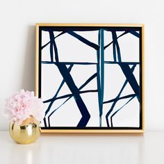Geometric Canvas | A stunning piece of art for the office, or the hubby.