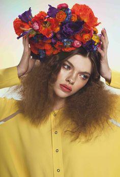 Flower Headband, Festival Headband, Costume Headband, Party Headband: Lisianthus, Ranunculus, Delphinium, Poppies by CleaBroad on Etsy