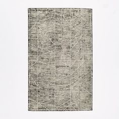 Erased Lines Wool Rug - Iron | west elm
