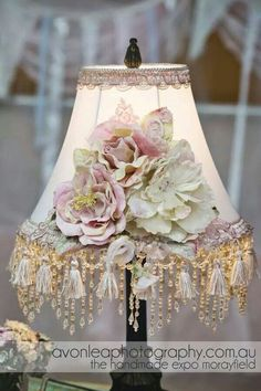 DO U NEED THAT PERFECT LAMP & LAMPSHADE 4 A GIRLS BEDROOM,DO U NEED SOMETHING 2 PULL YOUR PINK,OFF WHITE & YELLOW COLOR SCHEME TOGETHER,OR NEED A WOW FACTOR 4 UR SHABBY CHIC,ROMANTIC FRENCH,ROMANTIC COUNTRY OR SHABBY COTTAGE DECOR? LOOK NO FURTHER,UR LOOKING AT IT. A LAMP W/A BREATHTAKING EMBELLISHED LAMPSHADE IN SOFT COLORS OF PINK,OFF WHITE & YELLOW IS UR MUST HAVE. GLAD THAT I COULD BE OF SERVICE. OH,& URWELCOME