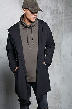 Hooded French Terry Cardigan