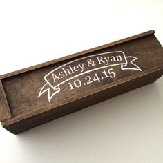 Wedding wine box, wine ceremony box, first fight box on Etsy, $50.00