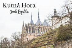 Kutnà Hora in the Czech Republic is a fun and easy day trip from Prague. Most go to Sedlec Ossuary Bone Church but the city itself has some neat things to offer. Day Trips From Prague, Easy Day, Czech Republic, Barcelona Cathedral, Sedlec Ossuary, Vacation, World, City, Bucket
