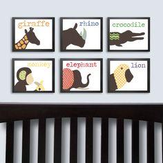BRIKA.com | Jungle Animals Nursery Art Prints | $78
