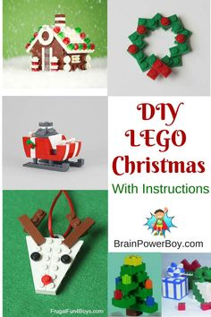 DIY LEGO Christmas Projects That Are a Must See! Try some of these super fun LEGO Christmas Projects. Includes instructions videos and some very neat builds to get your boys doing some LEGO learning. Diy Christmas Videos, Christmas Crafts For Kids, Christmas Activities, Christmas Projects, Holiday Crafts, Kids Crafts, Holiday Fun, Diy Lego, Lego Craft