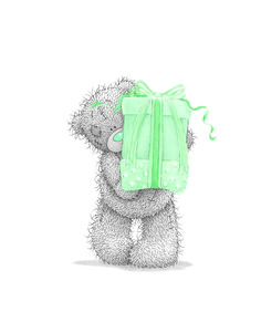 Tatty Teddy With A Present