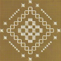 Free Hardanger Patterns - For Beginners and Beyond: Stitched Model of Free Hardanger Steps and Stars Pattern