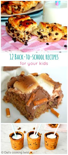 12 amazing Back-to-School Recipes for your Kids. Creative ideas, DIY, baking video tutorials, and lot of chocolate! | Del's cooking twist