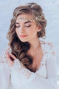 schöne frisuren ideen für das lange haar mit accessoires