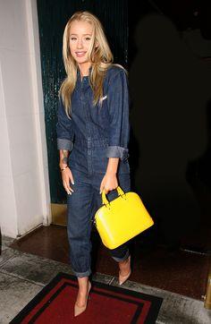 """Fancy"" singer Iggy Azalea puts her polished spin on the denim jumpsuit."
