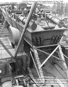 jfk pt photo | John F. Kennedy's PT 109 Boat Being Shipped (1942 Photo's) - BFD