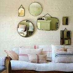 unframed mirrors... beautiful #mirror #home #decor