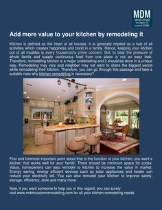 Kitchen is one of those places that require renovation frequently. For maintain the healthy and secured atmosphere inside the kitchen, get in touch with a #KitchenRemodeling contractor right away and make your kitchen beautiful and gorgeous.