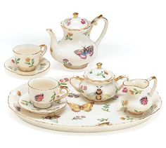 Miniature Porcelain Insect Teaset Beautiful Collectible(Pattern may Vary :Butterfly/Dragonfly/lady bugs/bees ) Burton & Burton http://smile.amazon.com/dp/B000LJSFAM/ref=cm_sw_r_pi_dp_M7mlub1NYVZ87