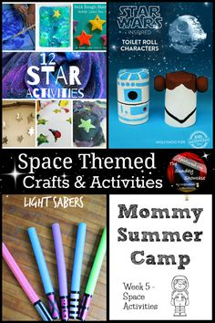 Learn about space at Mommy Summer Camp with space crafts and activities via Inspiration Laboratories #DIY #STEM