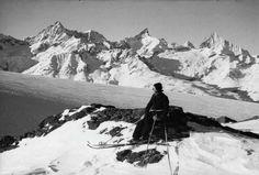 Ober Gabelhorn, Zinalrothorn, Weisshorn, General Milch. LBS_MH05-60-13 Mount Everest, Snow, Mountains, Nature, Travel, Ideas, Naturaleza, Trips, Viajes