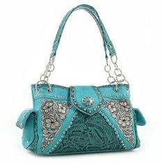 Bags - Turquoise Western Handbag