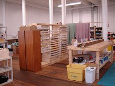Future soap studio. Except would have stainless steel shelves and tables instead of wood