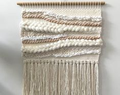 Blushing Boho Woven wall hanging Weaving Wall Art Home Bohemian Gypsy, Boho, Gypsy Style, Weaving Designs, Textiles, Woven Wall Hanging, Loom Weaving, Projects To Try, Blush