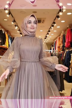Pin Image by Chantik manja Hijab Prom Dress, Dress Brukat, Hijab Evening Dress, Hijab Wedding Dresses, Muslim Dress, Bridesmaid Dress, Evening Dresses, Dress Outfits, Fashion Dresses