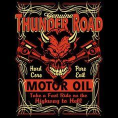 Hot Rod Racing Thunder Road Motor Oil Biker Speed Shop Skull Long Sleeve T Shirt Harley Shirts, Biker Shirts, Man Cave Games, Harley Davidson Wallpaper, Printing Supplies, Classic Harley Davidson, Harley Davidson Motorcycles, Hd Motorcycles, Thunder