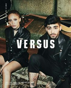 @versus_versace presents its SS17 Campaign, starring #ZaynMalik who #GigiHadid unlimited access as she shots the campaign. #intothemood #versaceofficial #socialfashion