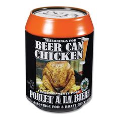 Beer Can chicken seasoning packaged in a tin can