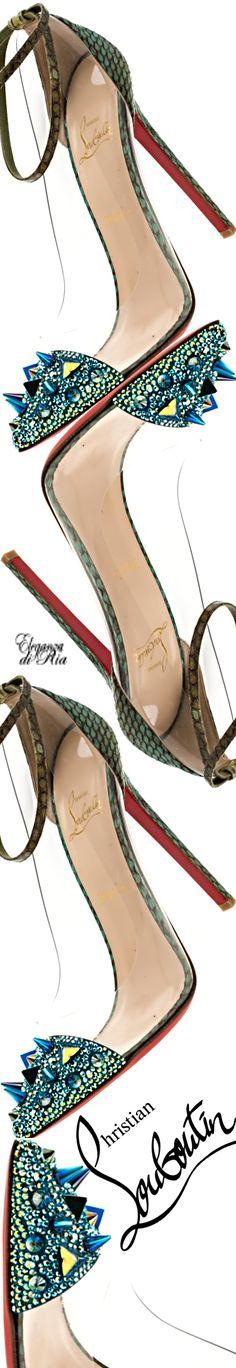 #christianlouboutin #tricolor #spiked #leather #clear #heels #eleganzadiria Eleganza di Ria
