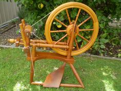 Double drive spinning wheel by Gaspero Kauri pine | Flickr - Photo Sharing!